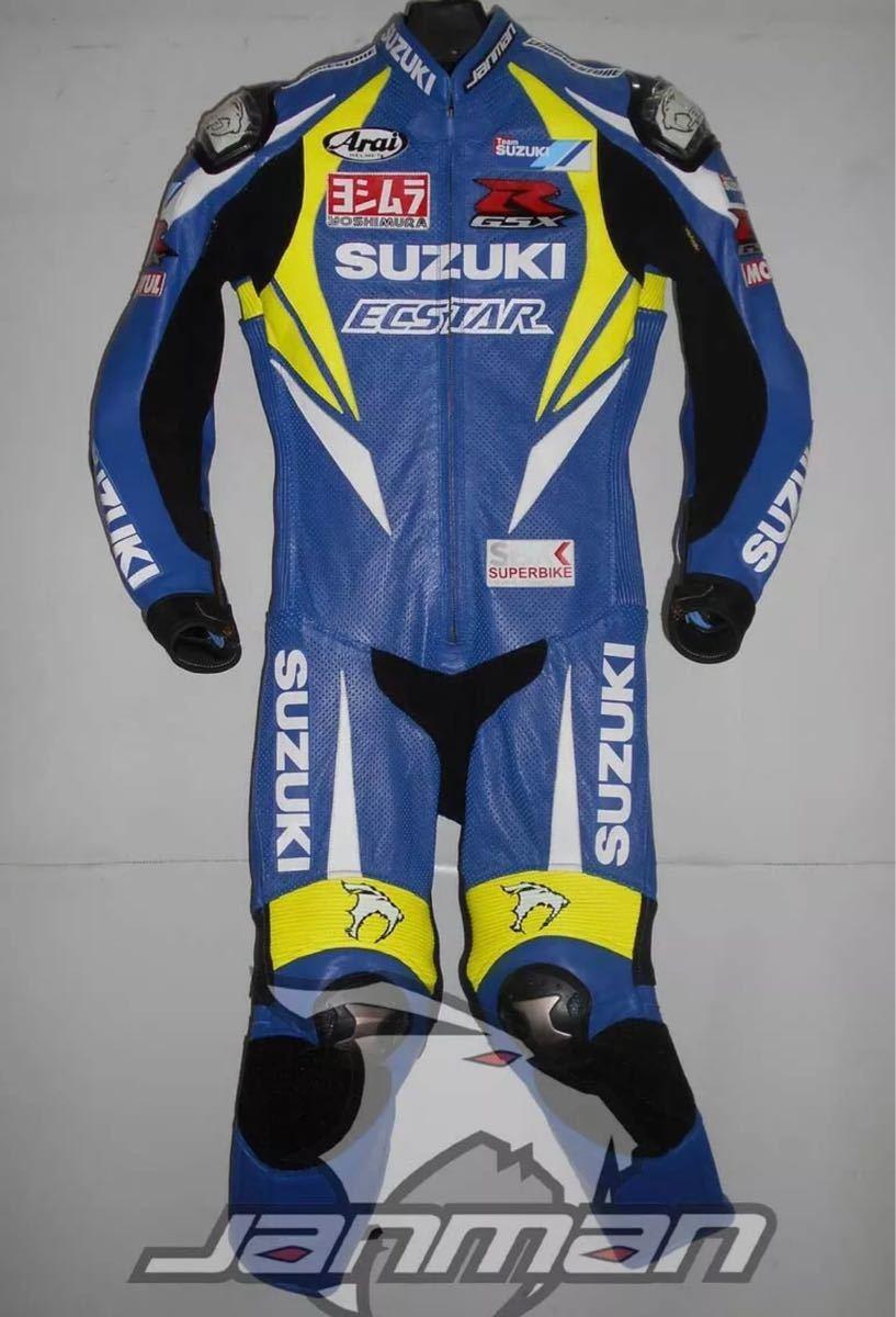 GSX-R ECSTAR エクスター motogp レーシングスーツ 革ツナギ ワンピース レザースーツ 各サイズ SBK