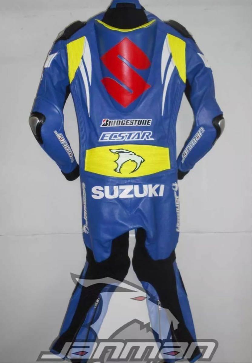 GSX-R ECSTAR エクスター motogp レーシングスーツ 革ツナギ ワンピース レザースーツ 各サイズ SBK_画像2