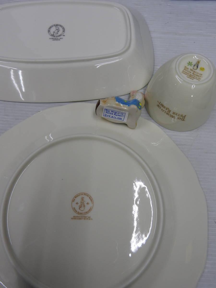 ☆未使用 ピーターラビット 茶器揃・箸置揃・大皿・グラタン皿セット ☆_画像10