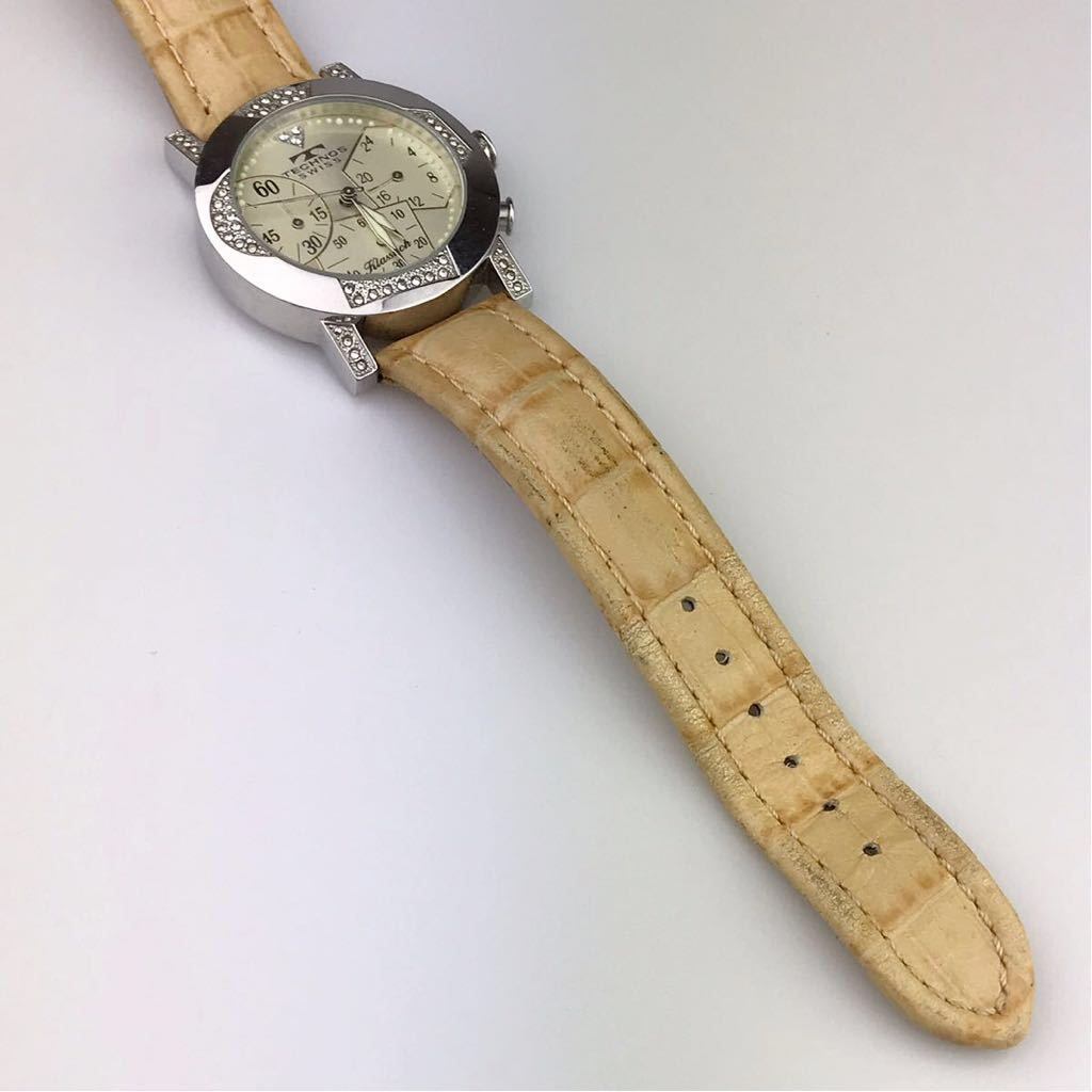 TECHNOS テクノスTKBC825 クロノグラフ クォーツ 腕時計■ ジャンク 動作品 電池交換済_画像9