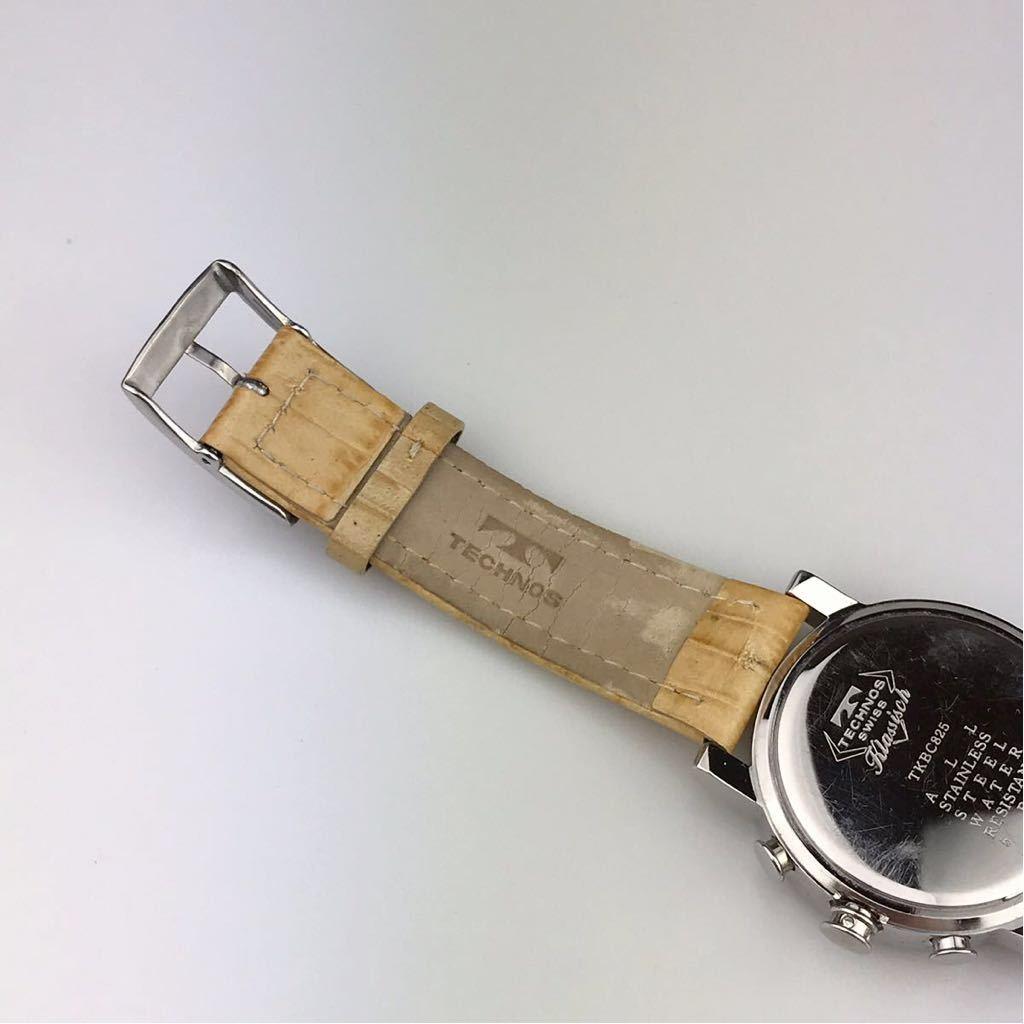 TECHNOS テクノスTKBC825 クロノグラフ クォーツ 腕時計■ ジャンク 動作品 電池交換済_画像7