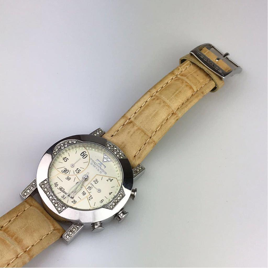 TECHNOS テクノスTKBC825 クロノグラフ クォーツ 腕時計■ ジャンク 動作品 電池交換済_画像8