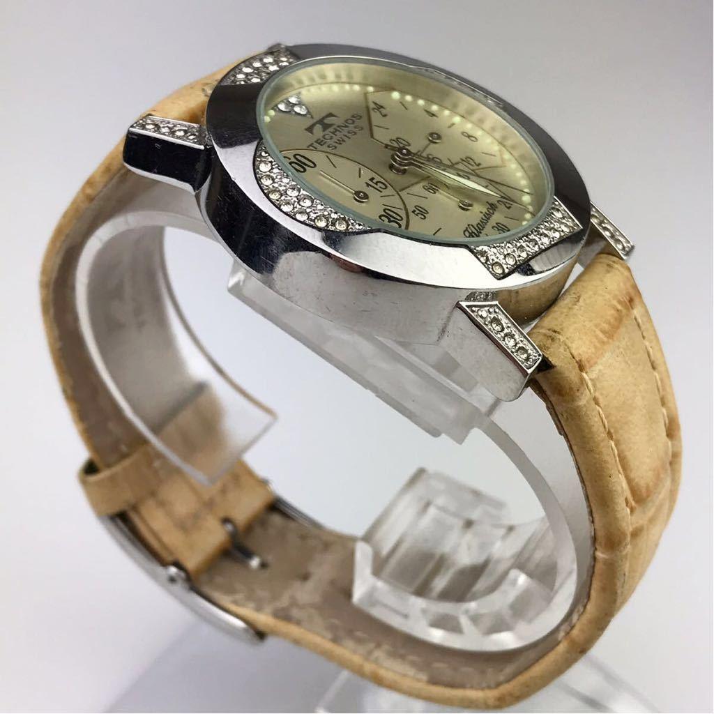 TECHNOS テクノスTKBC825 クロノグラフ クォーツ 腕時計■ ジャンク 動作品 電池交換済_画像4