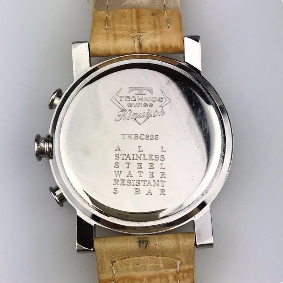 TECHNOS テクノスTKBC825 クロノグラフ クォーツ 腕時計■ ジャンク 動作品 電池交換済_画像5
