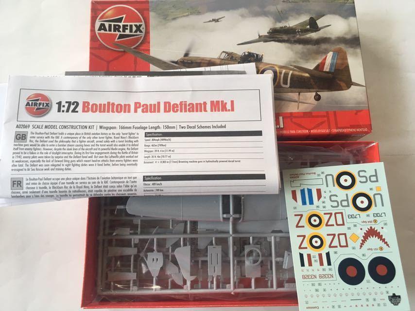 エァーフックス 1/72 ライトニングF.2A デファイアントMk.1 2機セット_画像6