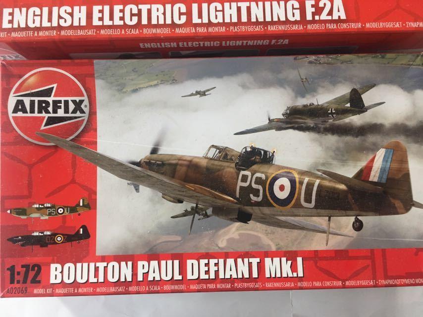 エァーフックス 1/72 ライトニングF.2A デファイアントMk.1 2機セット_画像3