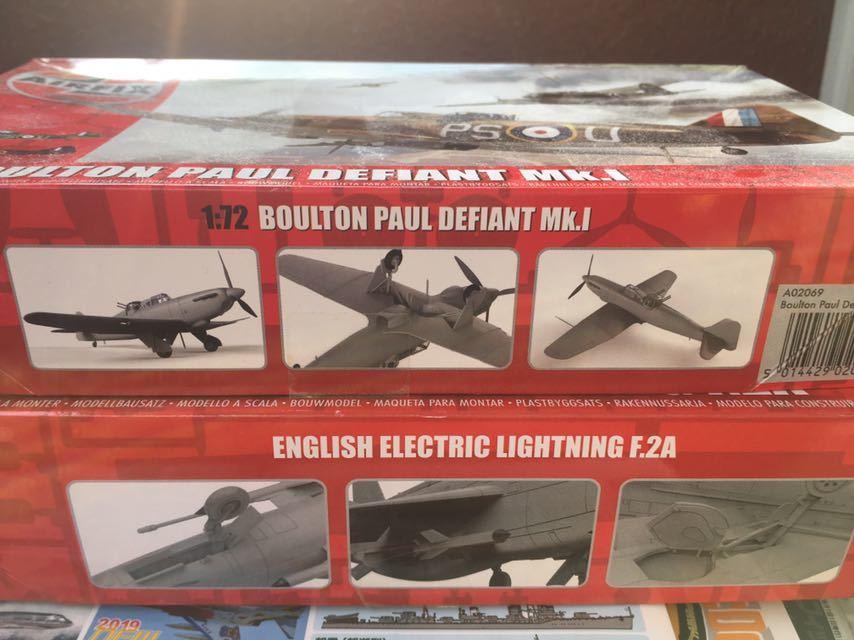 エァーフックス 1/72 ライトニングF.2A デファイアントMk.1 2機セット_画像7