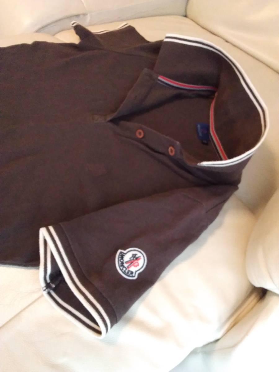 送料込 MONCLER モンクレール 半袖ポロシャツ ブラウン レディース  sizeS