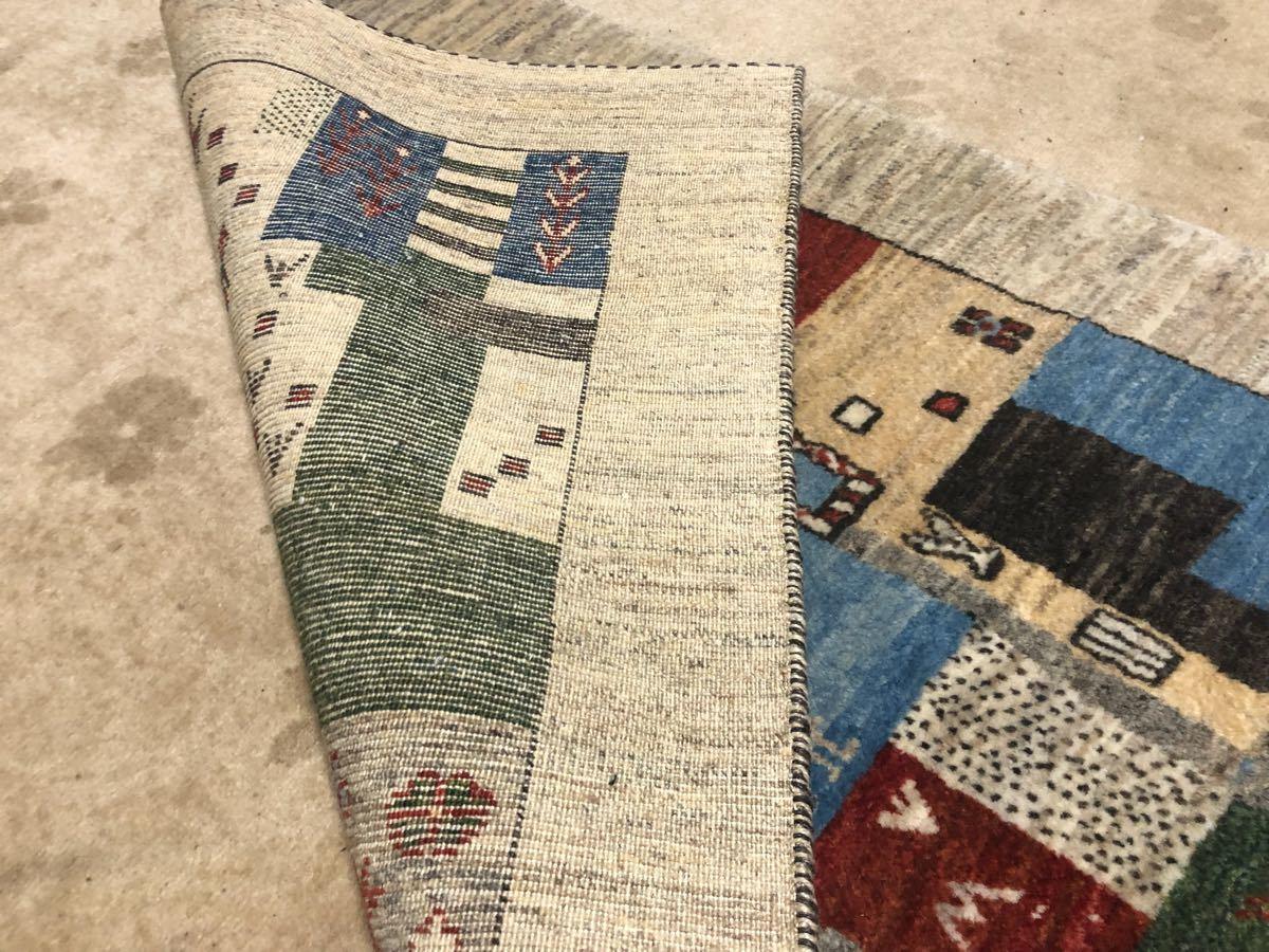 廊下用ギャッベ絨毯ゾランヴァリ社タグ付き世界中探してもない価格です!3日のみ半額より!これで落札できたらもってけ泥棒価格日本発送_画像6