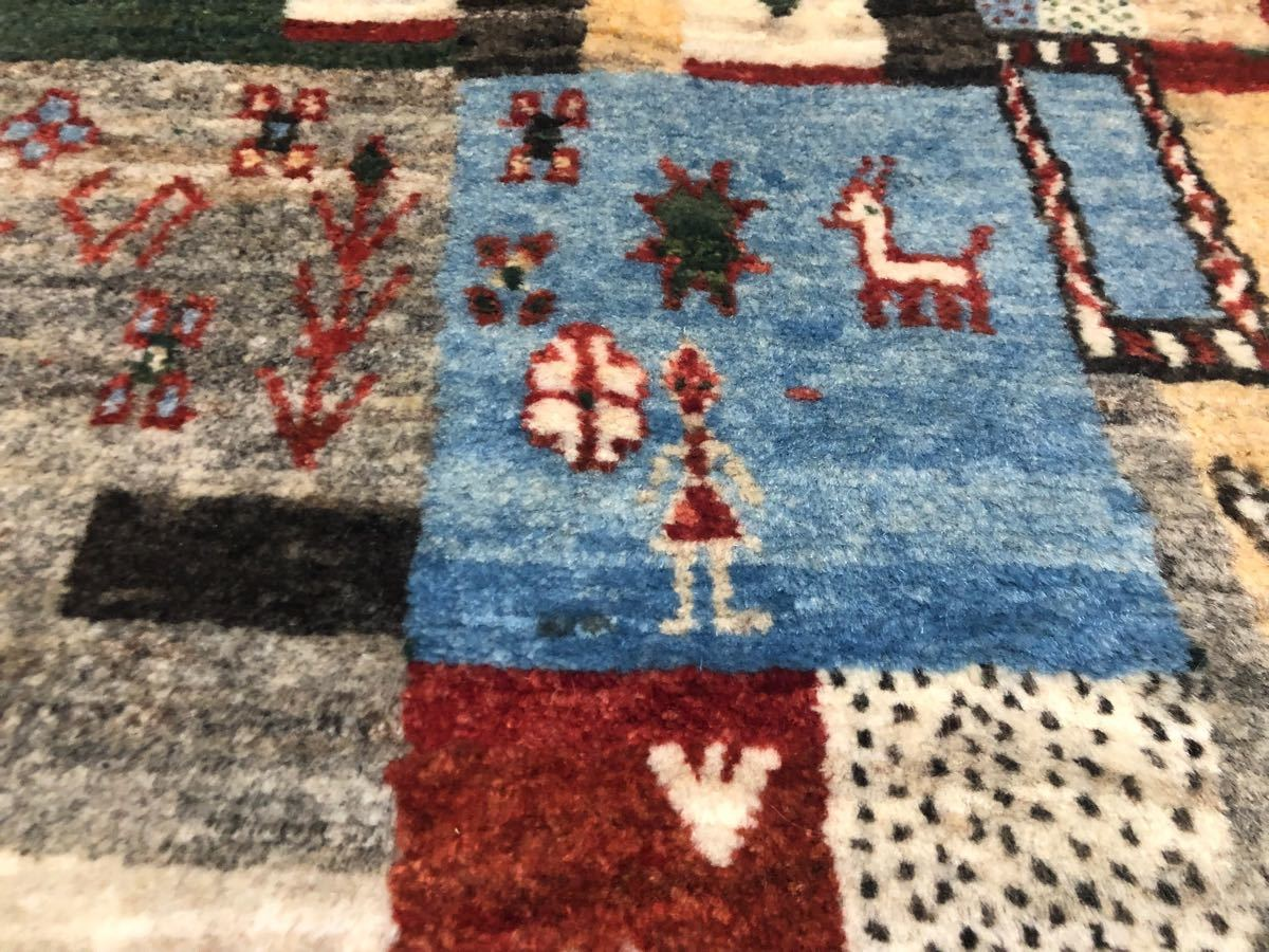 廊下用ギャッベ絨毯ゾランヴァリ社タグ付き世界中探してもない価格です!3日のみ半額より!これで落札できたらもってけ泥棒価格日本発送_画像5