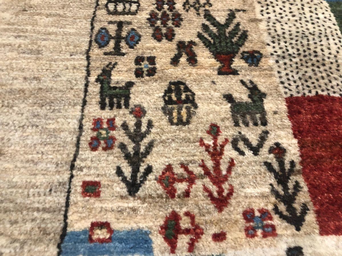 廊下用ギャッベ絨毯ゾランヴァリ社タグ付き世界中探してもない価格です!3日のみ半額より!これで落札できたらもってけ泥棒価格日本発送_画像4