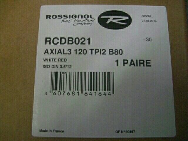 新品 ロシニョール レール式ビン AXIAL3 120 Tpi2 B80 白赤  FLUID 訳あり R271 ua_画像4