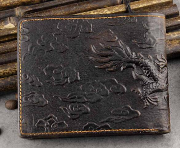 112030 メンズ 財布 二つ折り財布 人気 素敵 龍 DRAGON ドラゴン 気質よい 通勤 出張 旅行 高級感 _画像3