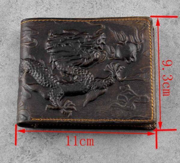112030 メンズ 財布 二つ折り財布 人気 素敵 龍 DRAGON ドラゴン 気質よい 通勤 出張 旅行 高級感 _画像2