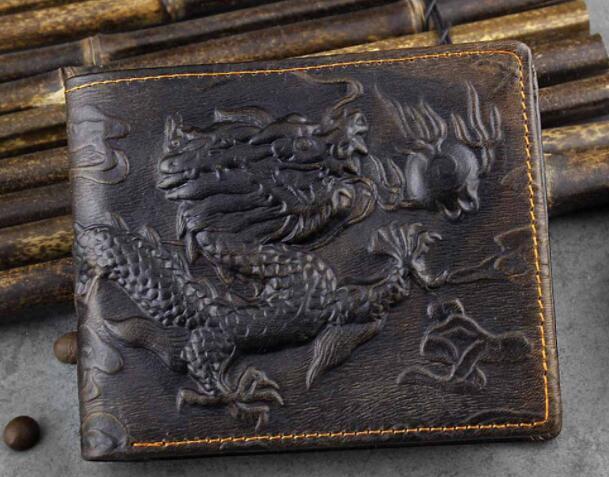 112030 メンズ 財布 二つ折り財布 人気 素敵 龍 DRAGON ドラゴン 気質よい 通勤 出張 旅行 高級感 _画像4