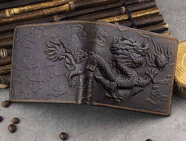 112030 メンズ 財布 二つ折り財布 人気 素敵 龍 DRAGON ドラゴン 気質よい 通勤 出張 旅行 高級感