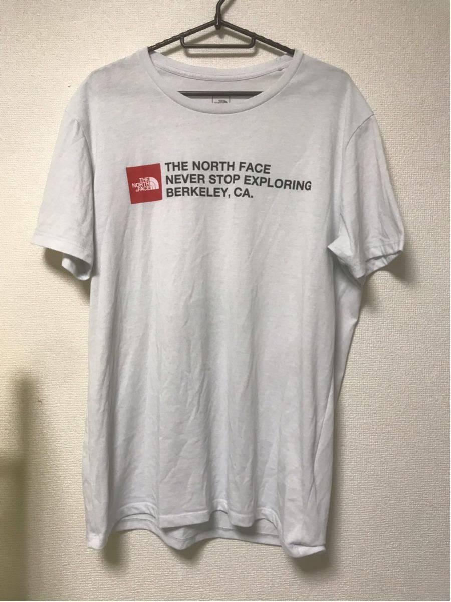 【美品/国内正規品】THE NORTH FACE ザノースフェイス ボックスロゴ グラフィック NT31893 スクエア ロゴティー Tシャツ メンズXLホワイト_画像1