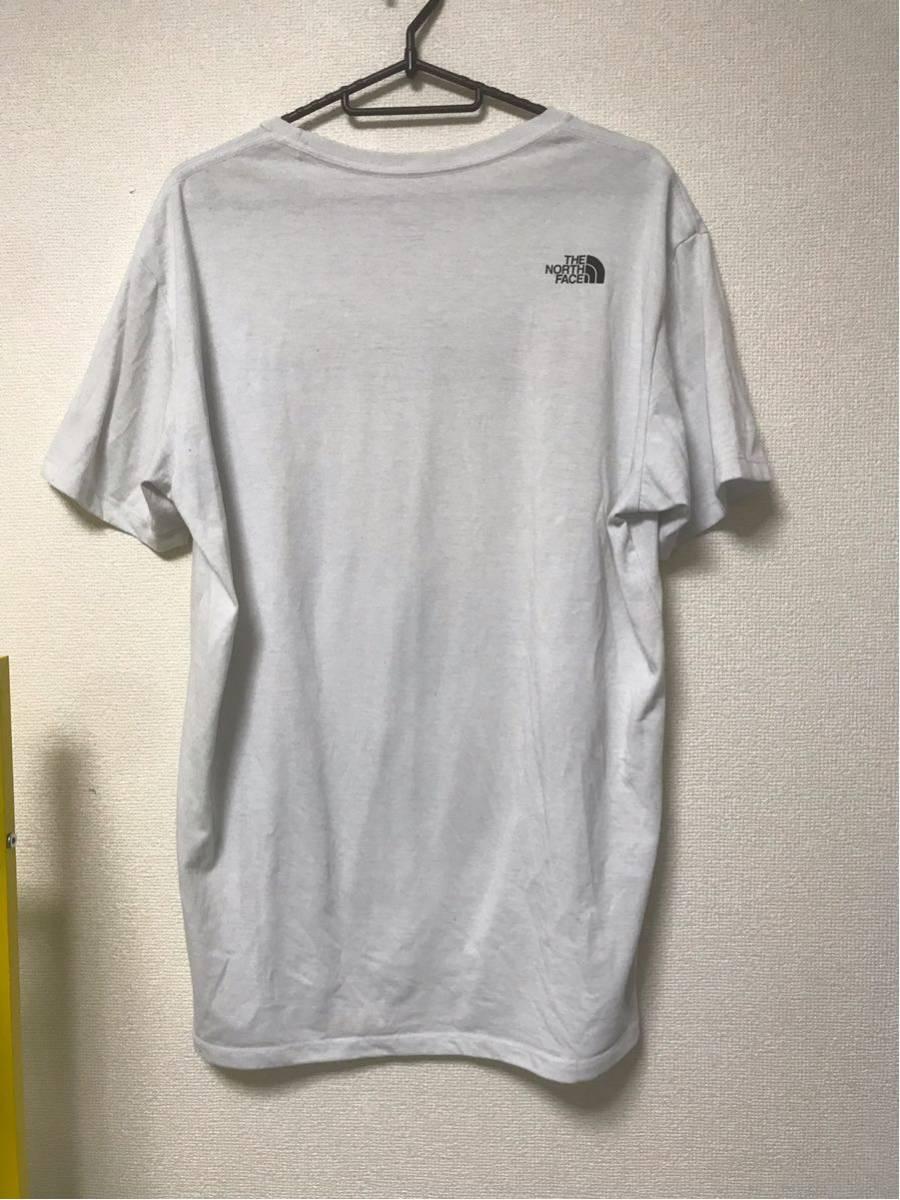 【美品/国内正規品】THE NORTH FACE ザノースフェイス ボックスロゴ グラフィック NT31893 スクエア ロゴティー Tシャツ メンズXLホワイト_画像2