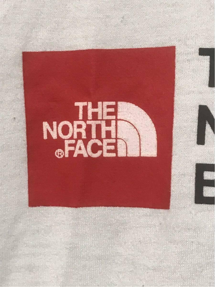 【美品/国内正規品】THE NORTH FACE ザノースフェイス ボックスロゴ グラフィック NT31893 スクエア ロゴティー Tシャツ メンズXLホワイト_画像3