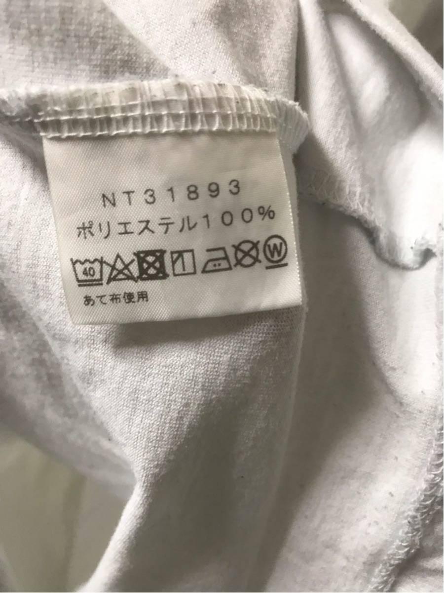 【美品/国内正規品】THE NORTH FACE ザノースフェイス ボックスロゴ グラフィック NT31893 スクエア ロゴティー Tシャツ メンズXLホワイト_画像6