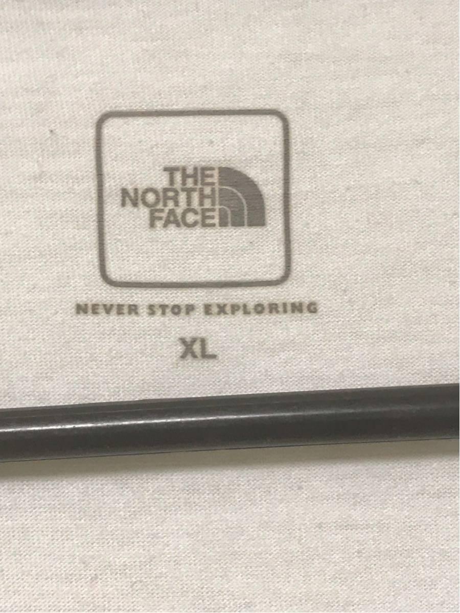 【美品/国内正規品】THE NORTH FACE ザノースフェイス ボックスロゴ グラフィック NT31893 スクエア ロゴティー Tシャツ メンズXLホワイト_画像7