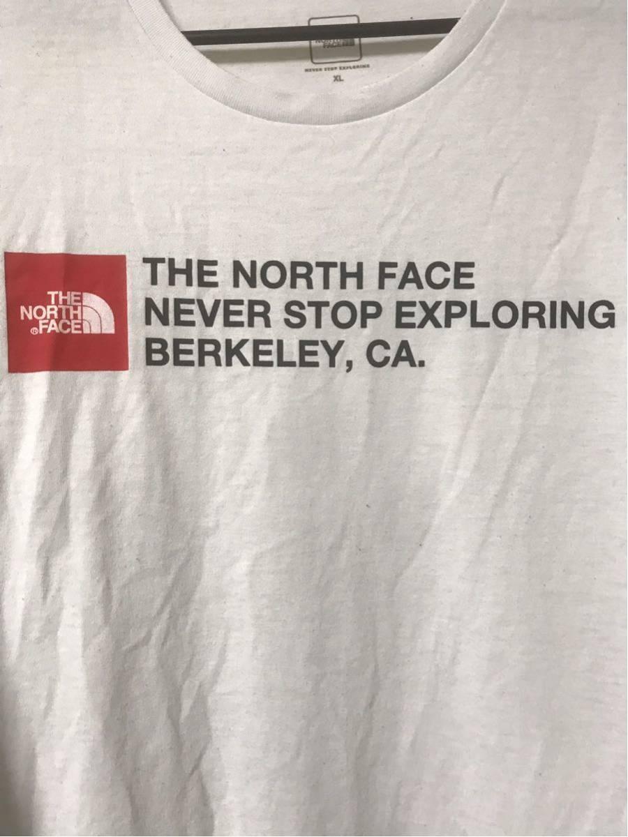 【美品/国内正規品】THE NORTH FACE ザノースフェイス ボックスロゴ グラフィック NT31893 スクエア ロゴティー Tシャツ メンズXLホワイト_画像5