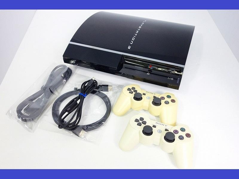 【動作OK】【日本製】【HDD160GB換装】PS3 本体 初期 CECHA00 PS2対応モデル★純正コントローラー2個 新品HDMIケーブル付★即遊べるセット