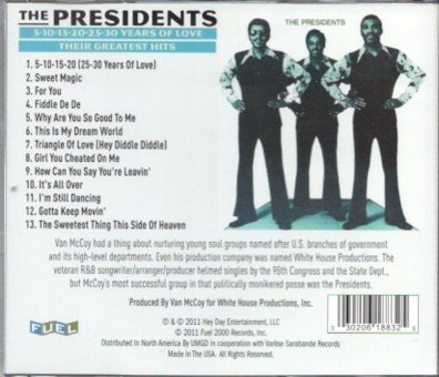 The Presidents / 5-10-15-20-25-30 Years Of Love: Their Greatest Hits_画像2