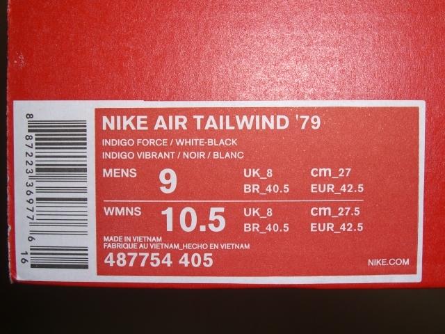 完売 展示品 復刻 NIKE AIR TAILWIND 79 ナイキ エア テイルウィンド ワッフル ランニング スニーカー 27cm インディゴ ブルー ホワイト_27cm