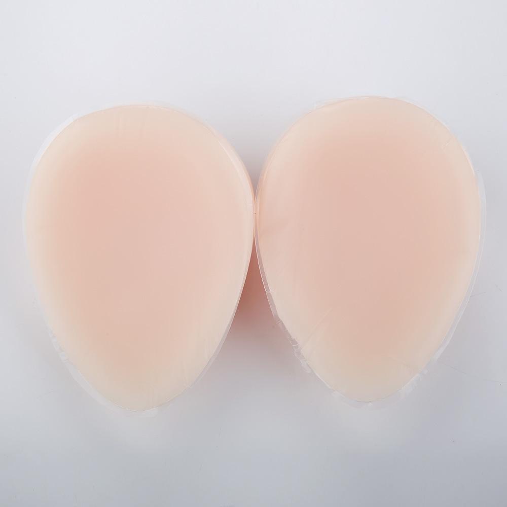 営業所止め可能 秘密発送 人工 乳房 偽胸 豊胸 おっぱい 女装 自然な一体感 粘着 貼付式 シリコンバスト 左右 2個 Eカップ_画像4