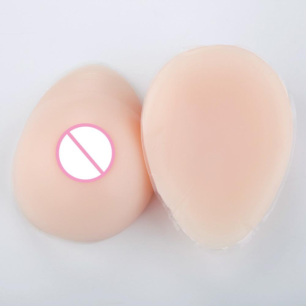 営業所止め可能 秘密発送 人工 乳房 偽胸 豊胸 おっぱい 女装 自然な一体感 粘着 貼付式 シリコンバスト 左右 2個 Eカップ_画像6