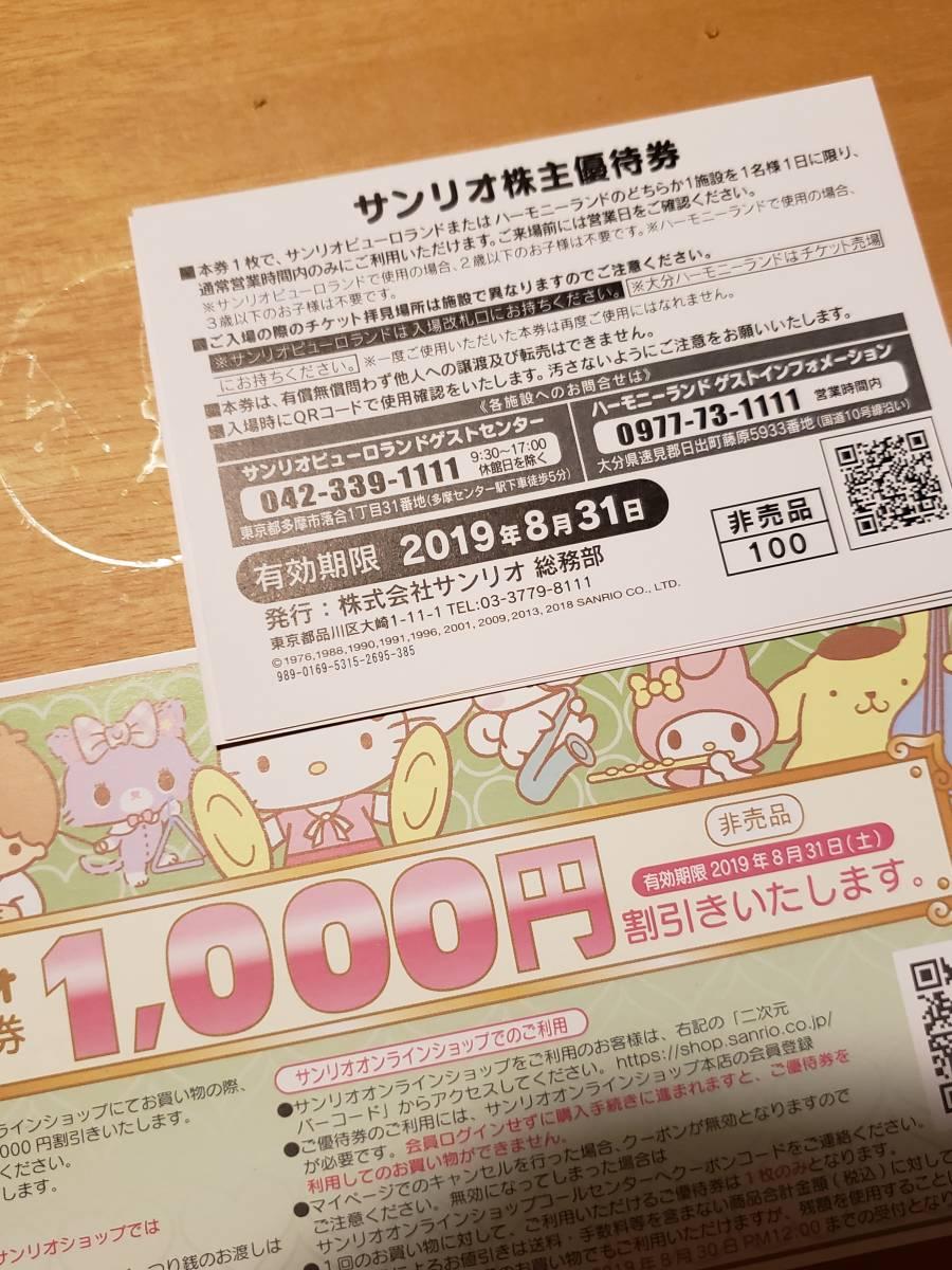 1円スタート新品未使用送料無料サンリオ株主優待券ピューロランド_画像2
