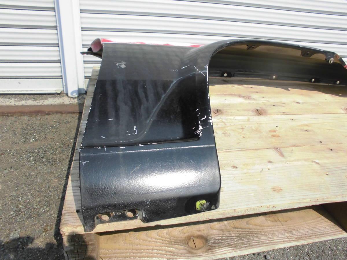 中古美品 AE86 トレノ フロントフェンダー 赤黒 右フェンダー 鉄フェンダー ノーマル 運転席側 アンテナ穴あり 純正フェンダー 爪折なし_画像7