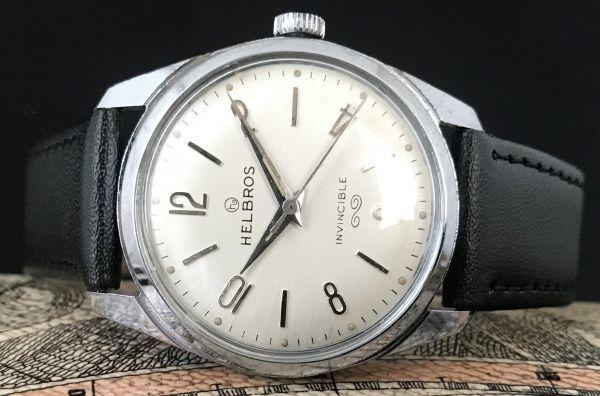 ☆古いスイス製機械式☆HELBROS(ヘルブロス) アンティーク ヴィンテージ 手巻き メンズ腕時計☆オーバーサイズ☆_画像3