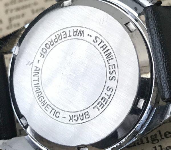 ☆古いスイス製機械式☆HELBROS(ヘルブロス) アンティーク ヴィンテージ 手巻き メンズ腕時計☆オーバーサイズ☆_画像7