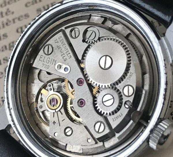 アンティークゆえの絶妙な風合い【エルジン(ELGIN)☆ SPORTSMAN 】 アンティーク ヴィンテージ 手巻き メンズ腕時計_画像7