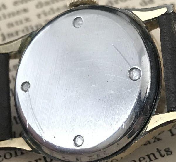 ☆ブルースチール針が美しい☆【BERTMAR☆ミリタリー】スモールセコンド ヴィンテージ アンティーク 手巻き メンズ腕時計_画像8