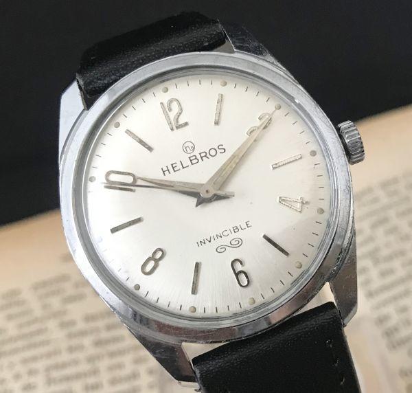☆古いスイス製機械式☆HELBROS(ヘルブロス) アンティーク ヴィンテージ 手巻き メンズ腕時計☆オーバーサイズ☆_画像4