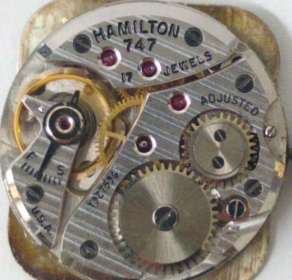 ☆極上品☆【ハミルトン HAMILTON☆レクタンギュラー】1金張り アンティーク ヴィンテージ 手巻き メンズ腕時計_画像10