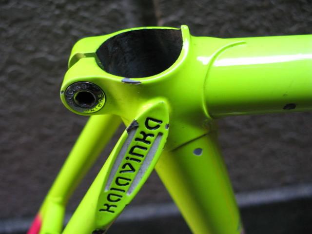 ピスト・競輪/NJS認定【kalavinka】フレームサイズ528mm R幅120mm美中古_画像4