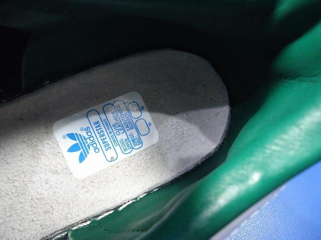 5372■15年製adidassuperstar80sDXアディダススーパースターデラックス緑金ベロ26cm 品番B35987_画像9
