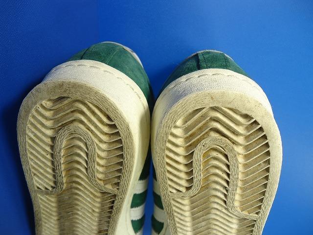 5372■15年製adidassuperstar80sDXアディダススーパースターデラックス緑金ベロ26cm 品番B35987_画像8