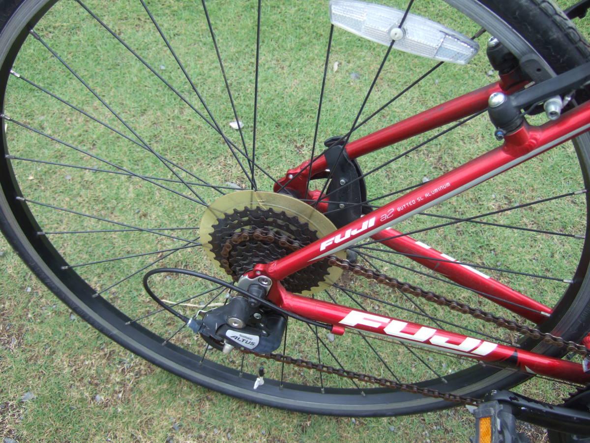 SATU58 FUJI フジ SPARROW スパロウ  サイズM 自転車 クロスバイク 28-622 700C×28 ワイン 引取り限定_画像9