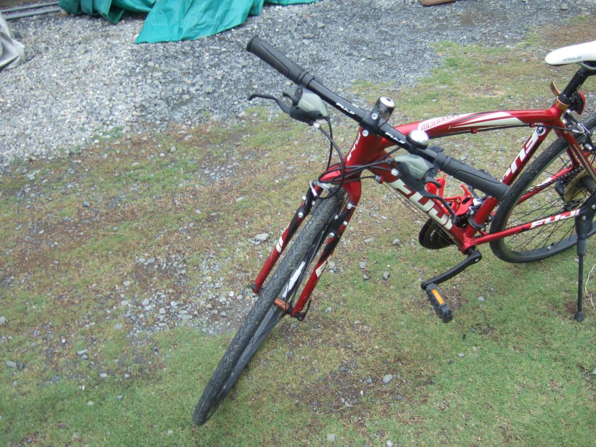 SATU58 FUJI フジ SPARROW スパロウ  サイズM 自転車 クロスバイク 28-622 700C×28 ワイン 引取り限定_画像6