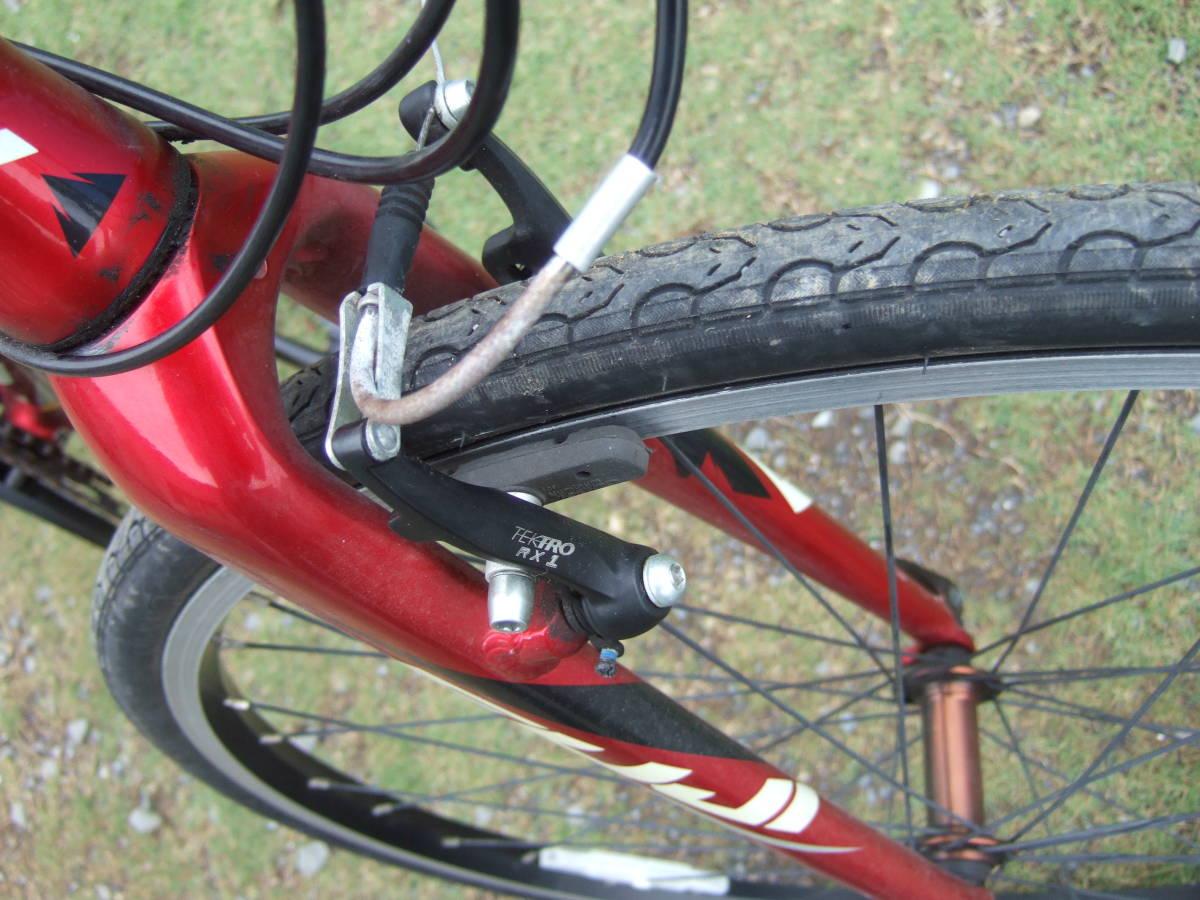 SATU58 FUJI フジ SPARROW スパロウ  サイズM 自転車 クロスバイク 28-622 700C×28 ワイン 引取り限定_画像7