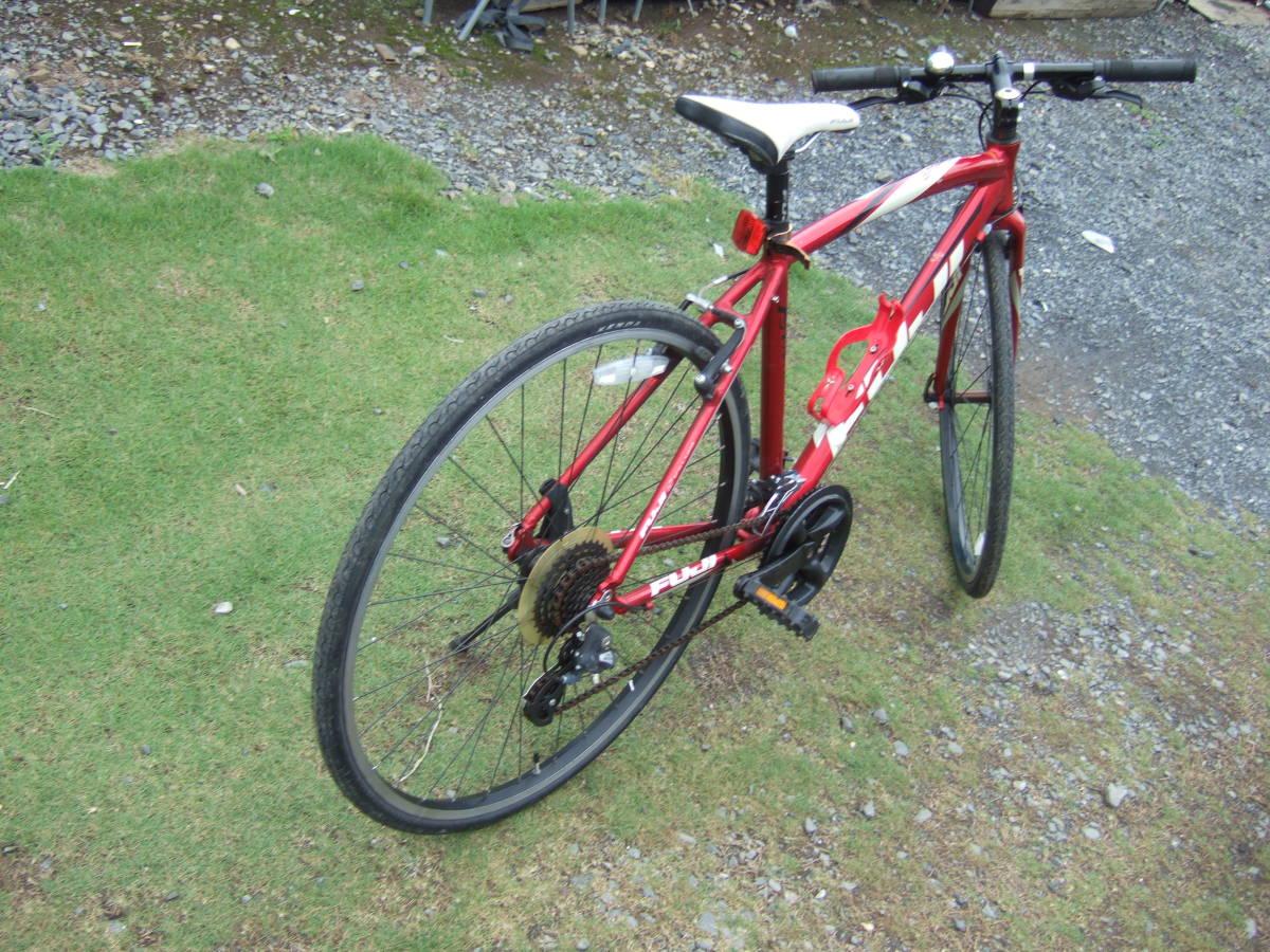 SATU58 FUJI フジ SPARROW スパロウ  サイズM 自転車 クロスバイク 28-622 700C×28 ワイン 引取り限定_画像2