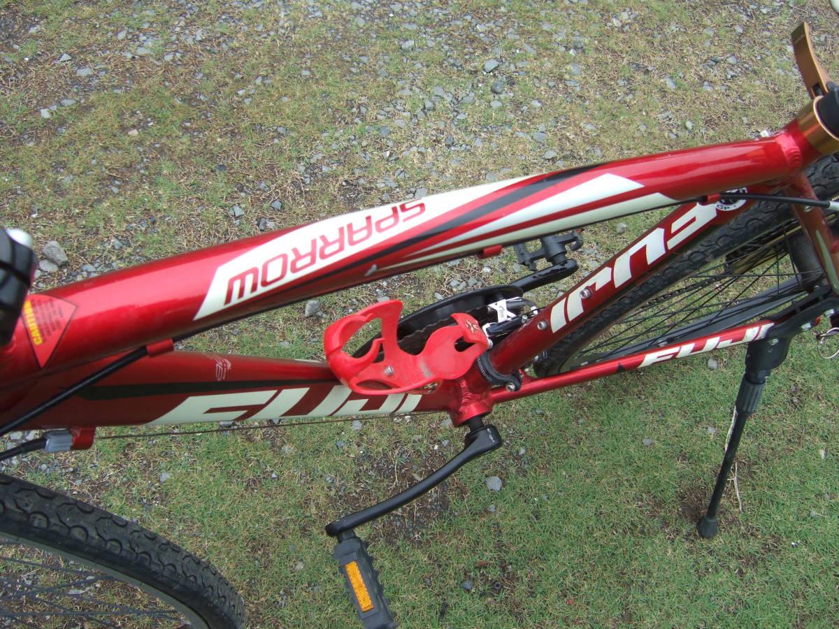 SATU58 FUJI フジ SPARROW スパロウ  サイズM 自転車 クロスバイク 28-622 700C×28 ワイン 引取り限定_画像10