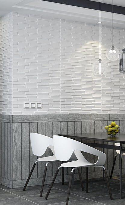 新品、未使用50枚 70cm×77cm 背景壁 3D立体レンガ模様壁紙 防水 汚い防 止 カビ防止 エコ素材_画像2