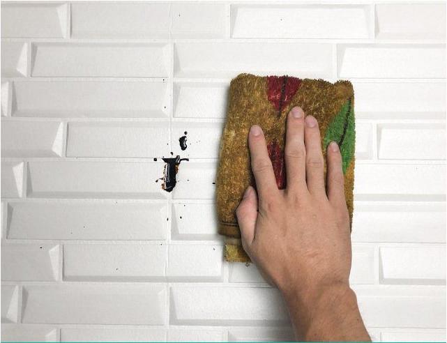 新品、未使用50枚 70cm×77cm 背景壁 3D立体レンガ模様壁紙 防水 汚い防 止 カビ防止 エコ素材_画像3