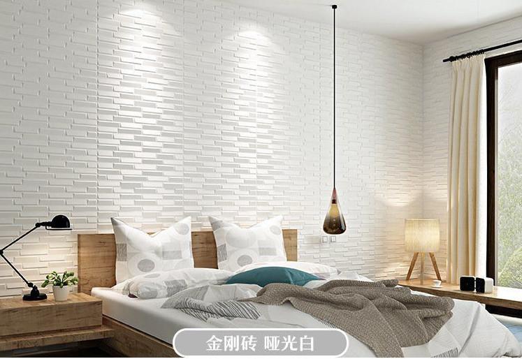 新品、未使用50枚 70cm×77cm 背景壁 3D立体レンガ模様壁紙 防水 汚い防 止 カビ防止 エコ素材_画像8